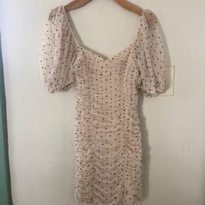 Zara mini polka dot dress